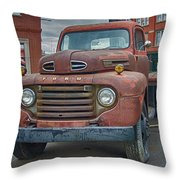 Ford F-6 Flatbed Truck 8546 Throw Pillow
