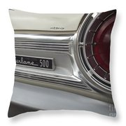 Ford Fairlane 500 Emblem Throw Pillow