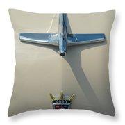Ford Fairlane Crown Victoria Hood Ornament  Throw Pillow