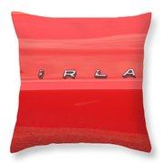 Ford Fairlane Emblem Throw Pillow