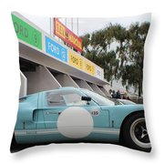 Ford Gt 40 Pit Lane Throw Pillow