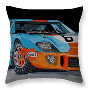 Ford Gt40 Throw Pillow