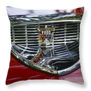 Ford Hood Emblem Throw Pillow