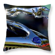 Ford Hood Ornement Throw Pillow