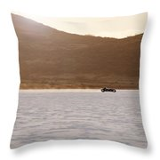 Ford Hot Rod On The Salt At Full Throttle Throw Pillow