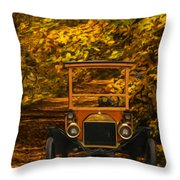 Ford Throw Pillow by Jack Zulli