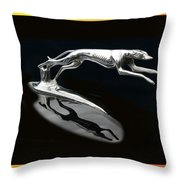 Ford Lincoln Greyhound Mascot Throw Pillow