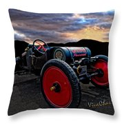 Ford Model T Racer Beat The Storm Home Throw Pillow