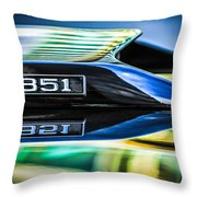 Ford Mustang 351 Engine Emblem -1011c Throw Pillow