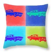 Ford Mustang Pop Art 2 Throw Pillow