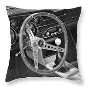 Ford Mustang Shelby In Black And White Throw Pillow