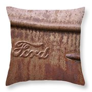 Ford Name Plate Throw Pillow