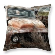 Ford Old Pickup Throw Pillow