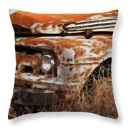 Ford Old School Bus Throw Pillow