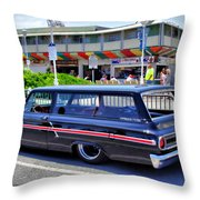 Ford Ranch Wagon Throw Pillow by Thomas  MacPherson Jr