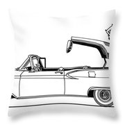 Retractable Ford Top Going Down Throw Pillow