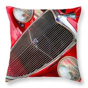 Ford Roadster V8 Throw Pillow