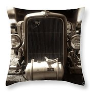 Ford Rod Throw Pillow