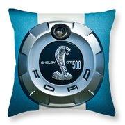 Ford Shelby Gt 500 Cobra Emblem Throw Pillow