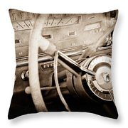 Ford Steering Wheel Emblem Throw Pillow