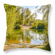 Ford Surrounded By Trees Throw Pillow