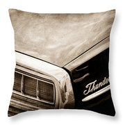 Ford Thunderbird Taillight Emblem Throw Pillow
