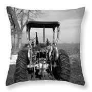 Ford Tractor Rear View Throw Pillow