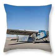 Ford Tri-motor Taxiing Throw Pillow
