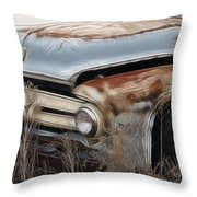 Ford Truck Old F350 Throw Pillow