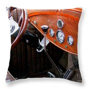 Ford V8 Dashboard Throw Pillow
