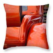 Ford V8 Rear View With Rumble Seat Throw Pillow