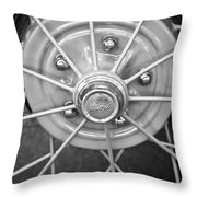 Ford Wheel Emblem -354bw Throw Pillow
