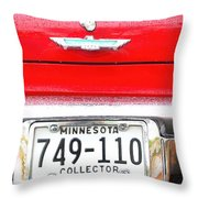 Ford With Minnesota Licence Plate Throw Pillow