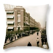 Ford Work Shift Change - Detroit 1916 Throw Pillow
