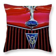 Ford's V8 Throw Pillow
