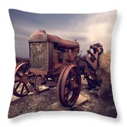 Fordson F Tractor Throw Pillow