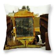 Fordson Tractor Plentywood Montana Throw Pillow