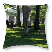 Fore Fathers Throw Pillow