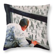 Foreign Correspondent Throw Pillow by Graham Dean