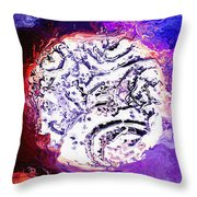 Foreign Moon Throw Pillow