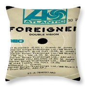 Foreigner Double Vision Side 1 Throw Pillow