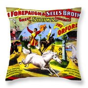 Forepaugh And Sells The Orfords Throw Pillow