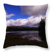 Forest And Clouds Throw Pillow