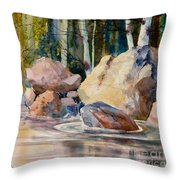 Forest And River Throw Pillow