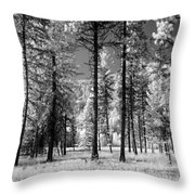 Forest Black And White Throw Pillow
