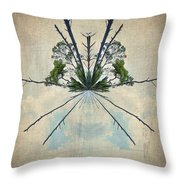 Forest Bouquet Wee Planet Throw Pillow