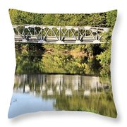 Forest Bridge Throw Pillow by Dan Sproul