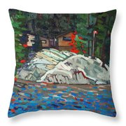 Forest Cottage Throw Pillow