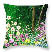 Forest Entrance Throw Pillow