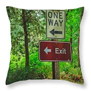 Forest Exit Throw Pillow